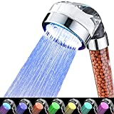 Led Shower Head 7 Colors Light Changing Automatically High Pressure Handheld Water Saving Shower Head with No Batteries