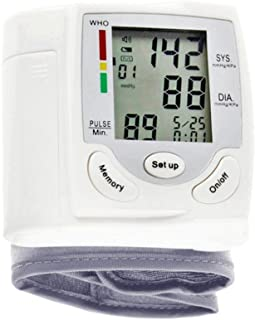 MYT Esfigmomanómetro portátil de la muñeca, exhibición de Digitaces del LED y tarjeta de memoria 90, Medición del pulso de la presión arterial