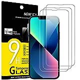 """Photo Gallery new c 3 pezzi, vetro temperato per iphone 13 e iphone 13 pro (6,1""""), pellicola prottetiva anti graffio, anti-impronte, senza bolle, durezza 9h, 0,33mm ultra trasparente, ultra resistente"""