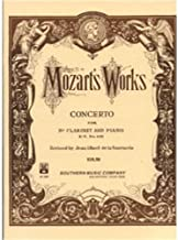 Southern Music Mozart Concerto in B for Clarinet K622
