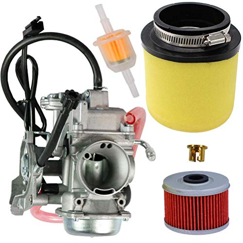 0470-737 Carburetor with 0470-322 Air Filter Oil Filter for Arctic Cat ATV 350 366 400 2008-2017 by TOPEMAI