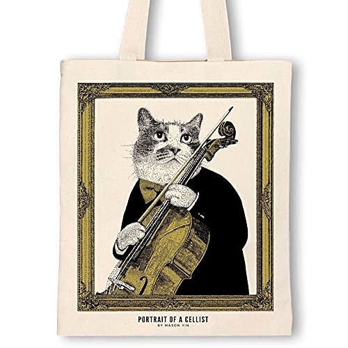 【チェロ】クラシックキャットトートバッグ Some Music Design 音楽雑貨