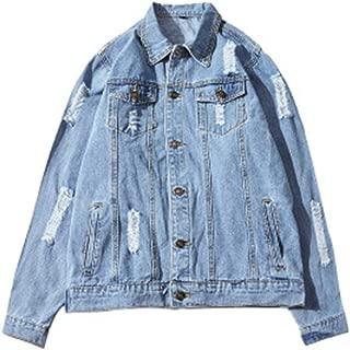 Men's Jean Jackets Lightweight Silm Fit Long Sleeve Button Denim Jackets