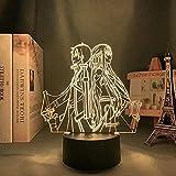 Luz de noche de ilusión 3D luz de estado de ánimo para niños control remoto de 7 colores y luz de regalo de vacaciones con botón táctil - Anime Sword Art Online Picture