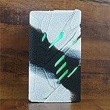 ModShield for SMOK T-PRIV 220W TC Silicone Case ByJojo T PRIV 220 W Skin Cover Sleeve Shield Wrap (White/Black)