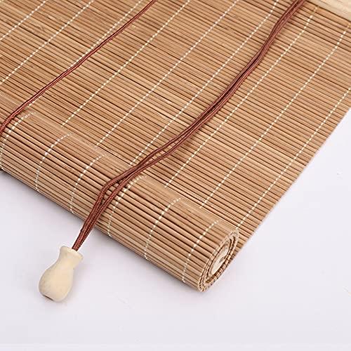 Persianas Enrollables de Bambú Natural,Estores de Bambú para Exteriores,Persiana Toldo Vertical...