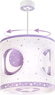 Dalber Moon Light 63234l - Lámpara de techo (infantil, diseño de luna), color morado
