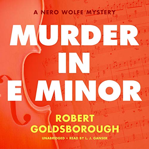 Murder in E Minor Audiobook By Robert Goldsborough cover art