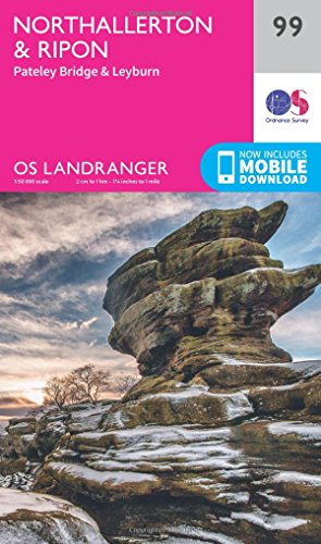 Landranger (99) Northallerton & Ripon, Pateley Bridge & Leyburn (OS Landranger Map)