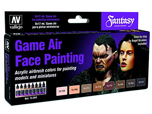 Vallejo Game Air Special Set 72865 Face Painting (8) by Angel Giraldez