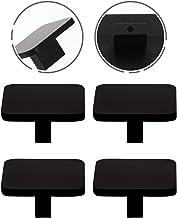 STPUS 4 stks kabinet aluminium knoppen eenvoudige vierkante dressoir handgrepen lade trekt (kleur: zwart, maat: 4X4CM)