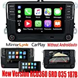 6,5' Autoradio de voiture Radio MIB2 RCD330 Carplay Mirrorlink Bluetooth pour VW Golf Caddy Touran...