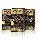 Syoss Oleo Intense - Coloración Permanente Tono 5-54 Castaño Claro Ceniza (Pack De 3) 50 ml
