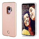 Vanjunn Selfie Led Light Up Case for Samsung S9 Plus LED Illuminated Cover Case for Galaxy S9 Plus Rose Case