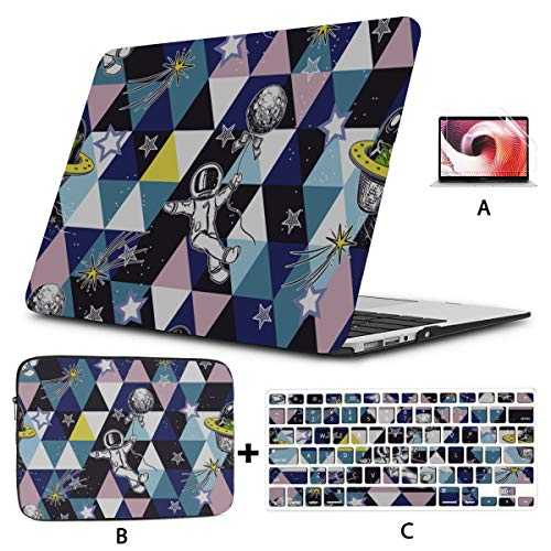 Macbookpro Case Child Fun Cartoon Cute Earth Painting Macbook Computer Case Hard Shell Mac Air 11'/13' Pro 13'/15'/16' With Notebook Sleeve Bag For Macbook 2008-2020 Version
