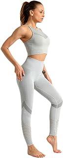 XFKLJ Sports Bra Yoga Pants Seamless Women Gym Suit Wear Running Clothes Women Fitness Sport Yoga Clothing Sports Bras+Leg...