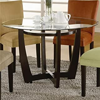 f086c75c4a9a0 Coaster Home Furnishings Round Glass Top with 1