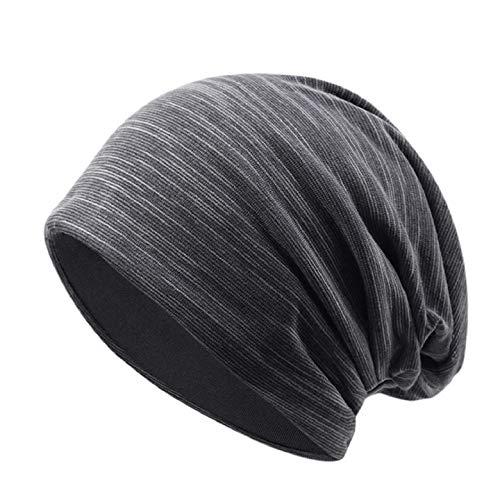 Yuson Girl Slouch Beanie Mütze für Herren und Damen aus Jersey Baumwolle Elastisch...