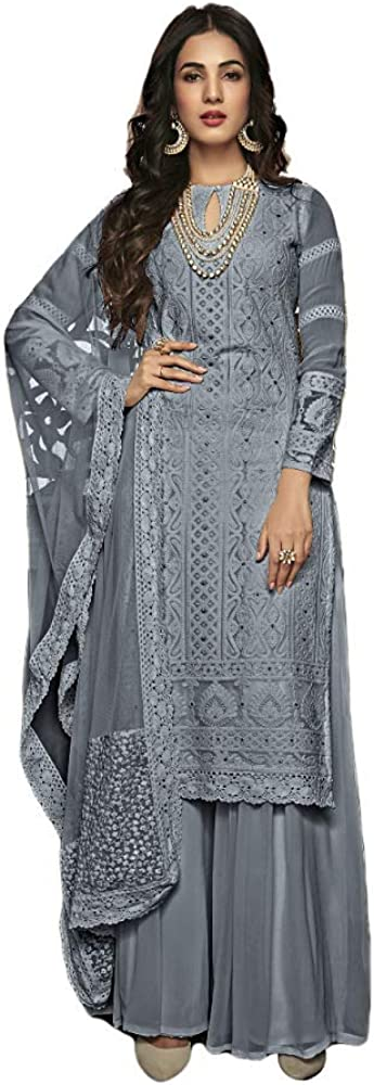 Henith Collection Ready to Wear Pakistani Party Wear Thread Embroidered Straight Salwar Kameez Salwar Suit for Women