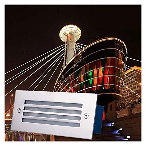 LED De Luz Subterránea Luces De Paso IP65 Al Aire Libre Impermeable Luces De Escalera Iluminación Enterrada Para El Edificio De Los Patios De La Piscina De La Fuente, 100V-240V (Color : A)