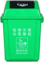 C-J-Xin Garden Garbage Container, Flapping Open Various Sizes Recycling Bins Trash Barrel for Residential Commercial Use T...