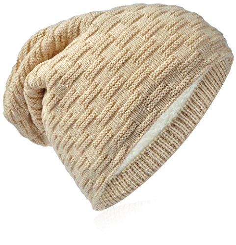 Miobo - Berretto in maglia - Uomo Flecht-Beige Medium