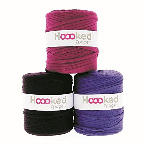 Hoooked Zpagetti Textilgarn 120 m Rolle alle Farben zur Wahl (lila/violett)