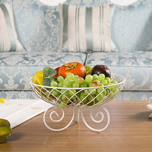 YYQIANG Fruit Basket Moderne Art Kreative Lotus Form-Form-Höhle Lagerung Obstschale Eisen-Kunst-Frucht-Behälter Wohnzimmer Küche Hochzeit Platte, Lagerung (Color : WHITE)