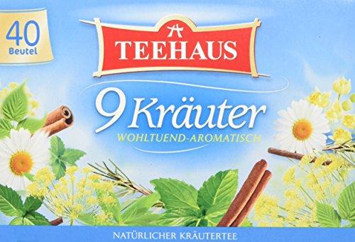 Teehaus 9 Kräuter (Teebeutel), 3er Pack (3 x 60 g)