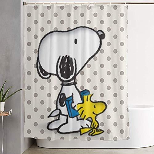 Asakawaholique Snoopy Duschvorhang, wasserdichter Stoff, Dekoration, kann für Familie, Hotel, Badezimmer verwendet werden