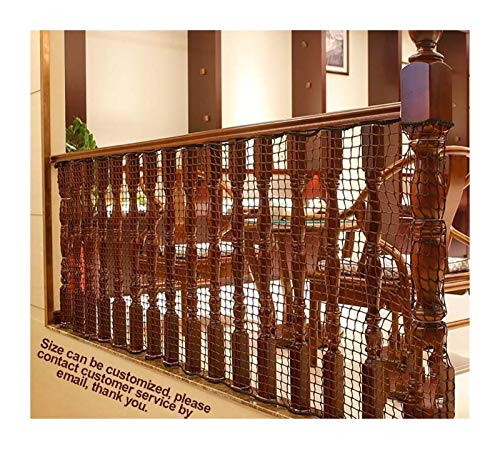 Safety Net Balcony Protection Protective Net Stair Balcony Child Safety Net Anti-fall Net Width 1.2m / Length 2m To 7m Optional Hand-woven Traditional Protective Net (size: 1.2m × 7m) Protective Safet