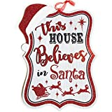 Christmas Decorations Farmhouse Wall Decor Sign Wooden Red and White Words Plaque Celebrate A Holidays Wood Hanger Kitchen Decore Indoors Porch Door Doorway Living Room