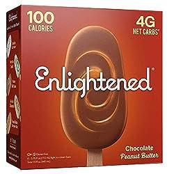 Enlightened, Chocolate Peanut Butter Swirl Ice Cream Bar, 15 fl oz (Frozen)