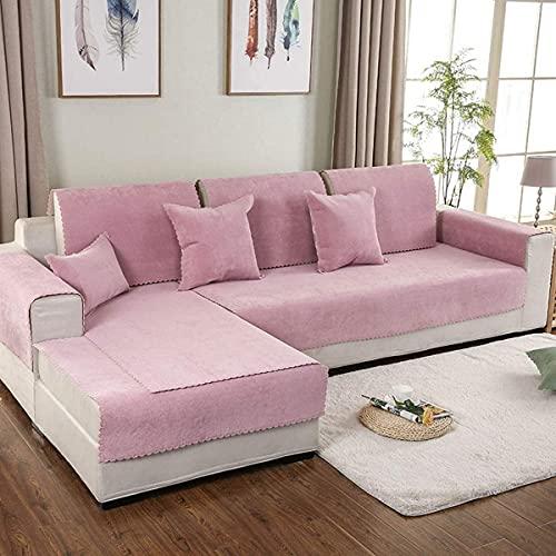 QZMX Funda de sofá impermeable seccional de 3 plazas, convertible en esquina, funda de sofá en forma de L, extensible, antideslizante, protector de sofá antidesplazamiento para un sofá seccional