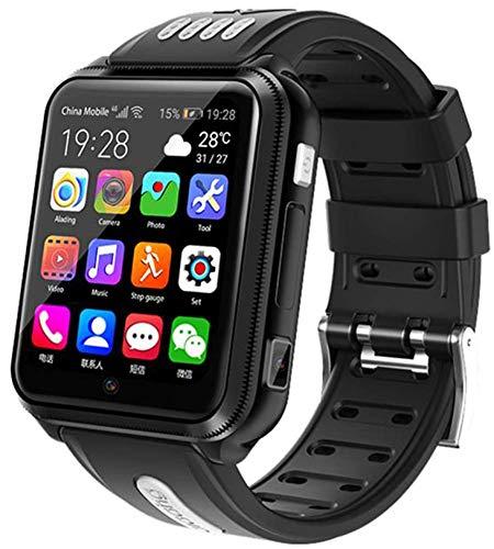 X&Z-XAOY Reloj Inteligente Rastreador De Actividad Física Reloj De Pulsera Inteligente con Cámara De Música GPS para Niños/Estudiantes 4G Seguimiento De Seguimiento (Color : Black)