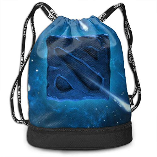 Bolsas de Cuerdas,Bolsas de Gimnasia,Mochilas Tipo Casual, Wallpaper Galaxy Style Logo Customized Multifunctional Beam Drawstring Backpack Unisex Suitable for Outdoor Travel
