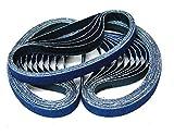 Klingspor CS 411 Y Schleifband/Feilenband | 10 x 330 mm | 25-teiliges Premium-Set | Je fünf Bänder der Körnungen 40,60,80,100 und 120
