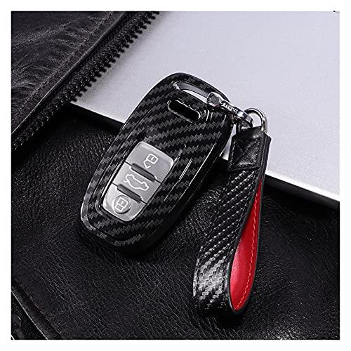 NANGE Wwang Store PC Fibra de Carbono Fob Fob Cubierta PROTECCIÓN Completa Cara DE Cara Caja para Audi A4 S4 B7 B8 A6 A5 A7 A8 Q5 S5 S6 Q7 Auto Accesorios de Auto Accesorios Inteligentes
