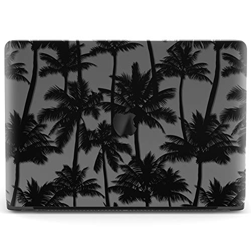 Mertak Hard Case for Apple MacBook Air 13 inch Mac Pro 15 Retina 12 11 2019 2018 2017 2016 2015 Trees California Clear Laptop Cover Plastic Touch Bar Palms Cool Design Print Protective Black Tropical