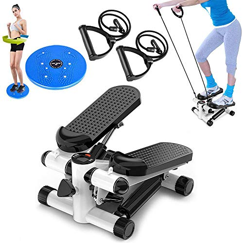 Check Out This ESACLM Mini Stepper, Stepping Machine Household Silent Twist Fitness Equipment with R...