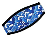 Flow Scuba Gear - Neoprene Cover for Dive and Snorkel Mask Strap (Tsunami)