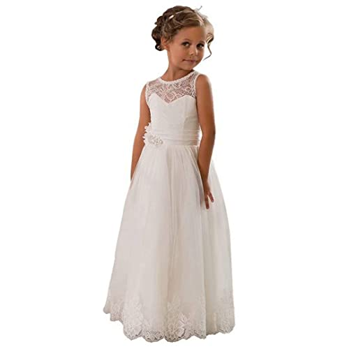 91188cc740 CDE Lace Boho A-line Flower Girl Dress Holy First Communion Gowns