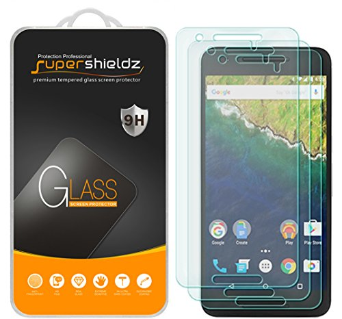 (3 Pack) Supershieldz for Huawei (Google) Nexus 6P Tempered Glass Screen Protector, Anti Scratch, Bubble Free