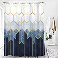 12のフック付きのバスルーム用のカーテンシャワー、ポリエステル生地洗濯機の防水シャワーカーテン70 X 70インチ D