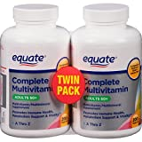 Equate Mature Adult 50+ One Daily Complete Multivitamin Compare to Centrum Silver (200 Ct) ( Pack of Two )