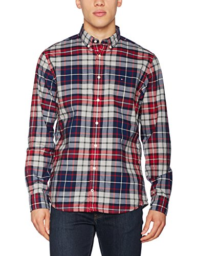 Tommy Hilfiger Tommy Tartan NF2 Camisa, (Bel Air Blue/Multi), XX-Large para Hombre