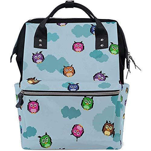 College Bag Grappig Dier Op De Boom Luier Casual Reizen Unisex Multi-Functie Rits Rugzak Dad Grote Capaciteit Baby Tassen Rugzakken 28X18X40Cm Moeder