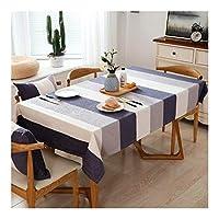 コットンリネンテーブルクロス幾何学ストライププリントテーブルクロス洗える長方形テーブルカバーするためにキッチンドローイングルーム 家の装飾 (色 : グレー, サイズ : 110x160cm)