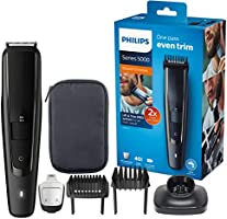 Philips Baardtrimmer Series 5000 - 40 Vergrendelbare Lengtestanden (0.4 - 20 Mm) - 90 Minuten Scheren - Waterdicht -...