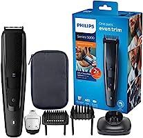 Philips Baardtrimmer Series 5000 - 40 Vergrendelbare lengtestanden (0.4 - 20 mm) - 90 Minuten scheren - Waterdicht -...